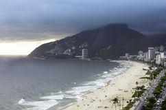 Clouds on Ipanema Beach Stock Photography