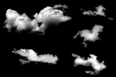 Clouds isolated on black baclground Royalty Free Stock Image