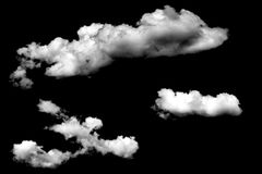 Clouds isolated on black baclground Royalty Free Stock Photo
