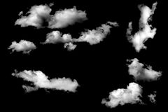 Clouds isolated on black baclground Stock Image