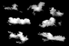 Clouds isolated on black baclground Royalty Free Stock Images