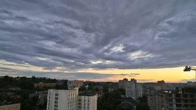 Clouds. In Kiev - Ukraine 07/09/2017 Royalty Free Stock Photo