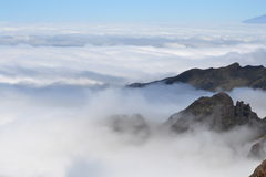 clouds kilimanjaro Arkivbild
