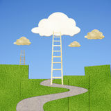 Clouds with ladder Royalty Free Stock Photo