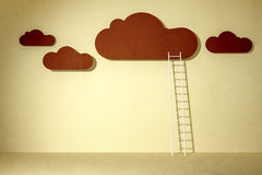 Clouds and ladder Stock Image