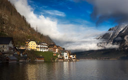 Clouds at Lake Hallstatt, Salzkammergut, Austrian Alps Royalty Free Stock Images
