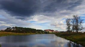 clouds laken Royaltyfria Bilder