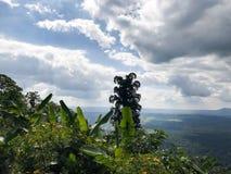 clouds lakenaturskyen arkivbilder