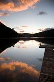clouds lakepink Royaltyfri Foto