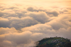 Between the clouds and land Royalty Free Stock Photography