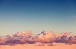Clouds layer in bright evening sky Stock Photography