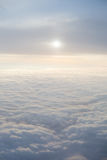 Clouds with lens flare Royalty Free Stock Images