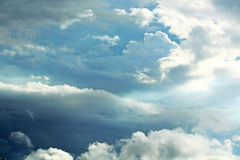 Clouds in light blue sky Royalty Free Stock Photo