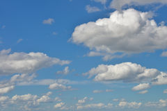 Clouds In A Light Blue Sky Stock Image