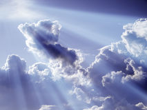 Clouds with light effect Stock Photography