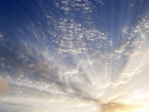 Clouds and light rays. Sky of Clouds and light rays Stock Image