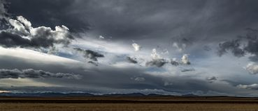 Clearing Storm, Front Range, Colorado stock photography