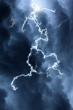 Clouds and lightning Stock Photography