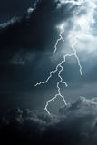 Clouds and lightning Royalty Free Stock Photography