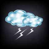 Clouds with lightning on dark Royalty Free Stock Photography