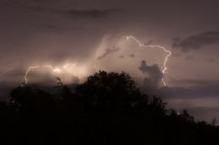 Clouds and lightnings Stock Photography