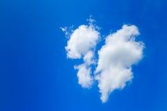 Clouds like broken heart Stock Photos