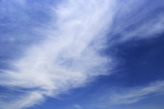 Clouds like silk cotton Royalty Free Stock Images