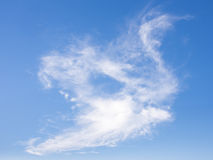 Clouds like swan in blue sky Royalty Free Stock Photos