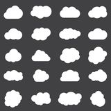 Clouds line art icons set. Storage solution element, databases, networking, software image, cloud and meteorology concept Stock Photography