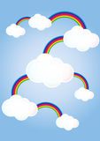 Clouds linked rainbows Stock Photos