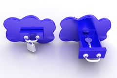 Clouds With Lock And Key Stock Image