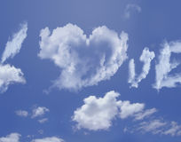 Clouds love Royalty Free Stock Photography