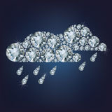 Clouds  made up a lot of diamonds Royalty Free Stock Photo