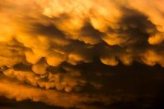 clouds mammatus Arkivfoto