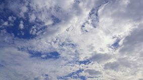 Clouds. Many clouds and sunlight on blue sky background.air, meteorology,ozone Stock Photos