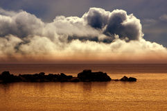 Clouds on marine scenery Royalty Free Stock Photos