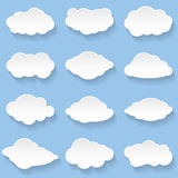 Clouds. Messages in the form of Clouds. Set, Illustration Stock Photography