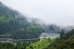 Clouds and mist floating in the lake Royalty Free Stock Photography