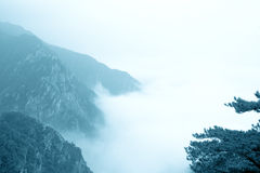 Clouds and mist in the mountain Royalty Free Stock Photography