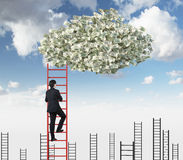 Clouds with money Royalty Free Stock Photography