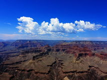 Clouds Monsoon Weather Southwestern Color. Cumulus cloud formations over Grand Canyon National Park in northern Arizona during southwestern monsoon season Stock Images