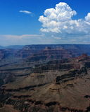 Clouds Monsoon Weather Southwestern Color. Cumulus cloud formations over Grand Canyon National Park in northern Arizona during southwestern monsoon season Royalty Free Stock Photos