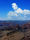 Clouds Monsoon Weather Southwestern. Cumulus cloud formations over Grand Canyon in northern Arizona during southwestern monsoon season Royalty Free Stock Photography