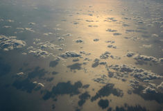 Clouds in the morning. Clouds on sunrise  above Mediterranean sea Stock Images