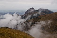Clouds in mountain. Autumn landscape from Tatra of Poland stock photography