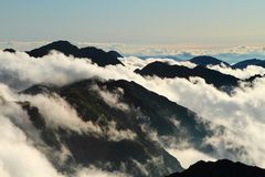 Clouds in mountain,Fagaras , Romania. Clouds in the mountain, Fagaras , Romania royalty free stock image