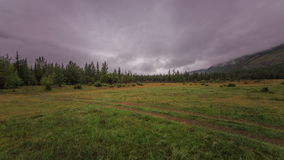 Clouds in the mountain valley. stock footage