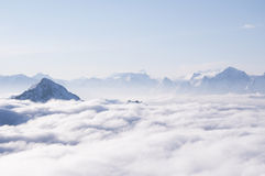 Clouds in the mountains Royalty Free Stock Image