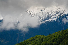 Clouds Among the Mountains Royalty Free Stock Images