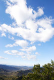 Clouds on mountains Royalty Free Stock Image
